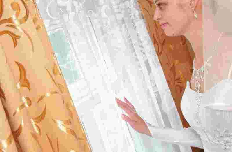 Свадебное платье в кимрах