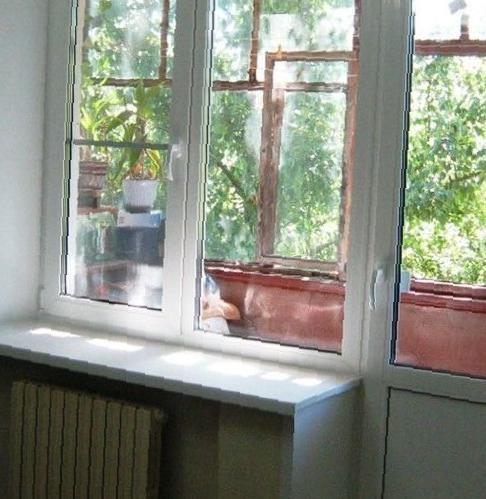 Балконный блок пвх под ключ в владикавказе, цена 16500 рубле.