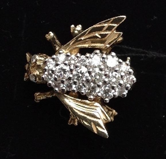 Фото  Купить брошь Бриллиантовый Шмель - коллекционное изделие в Кемерово,  цена 50000 рублей — 8bbad2e45db